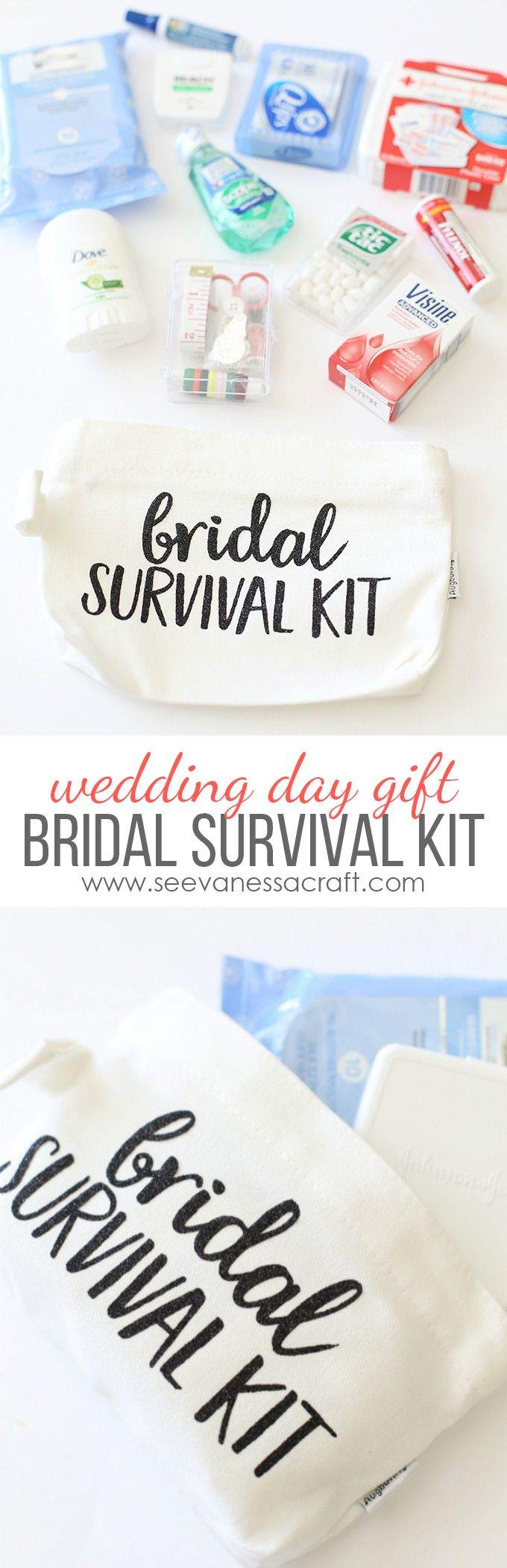 Bridal Survival Kit Filled With Wedding Day Essentials That The Bride Will Need On Her