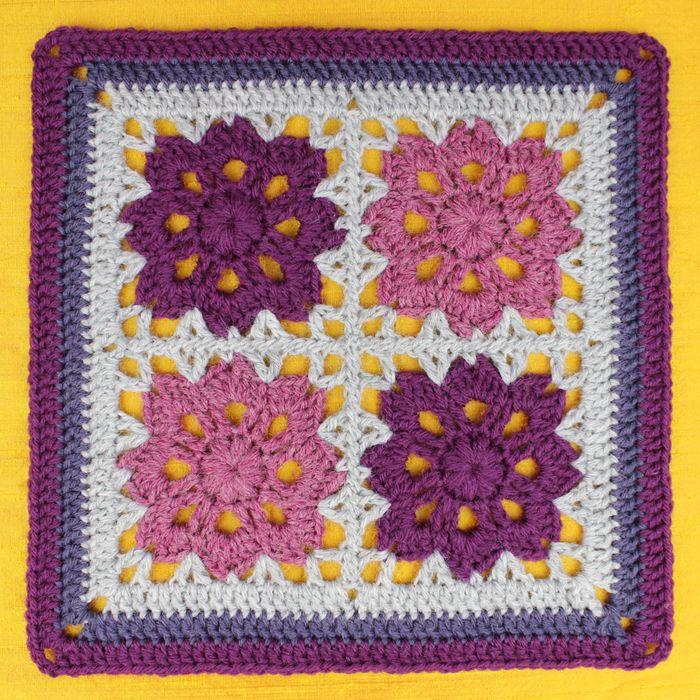 Crochet Flowers In The Window Afghan Free Pattern Downloaded