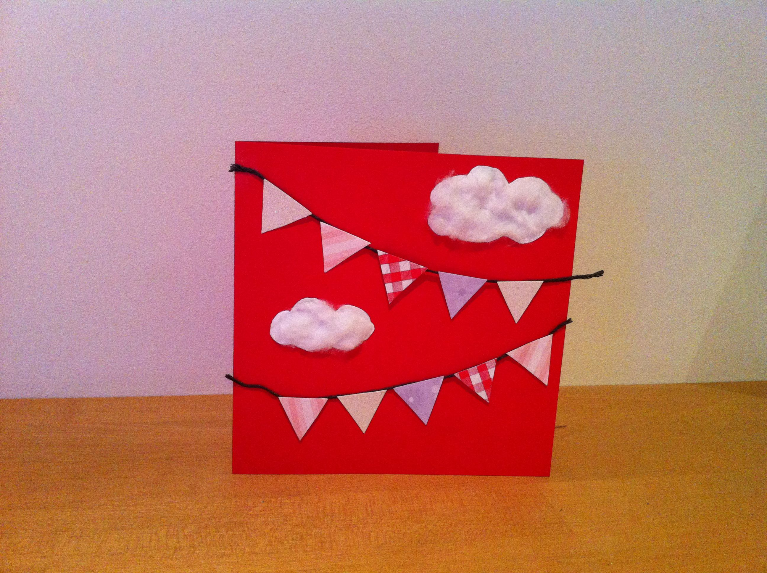 Cute bunting card
