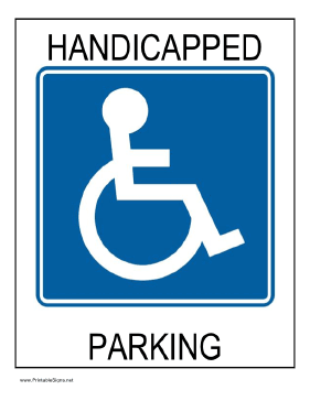 Printable Handicap Sign : printable, handicap, Printable, Handicapped, Parking, Signs,, Signs