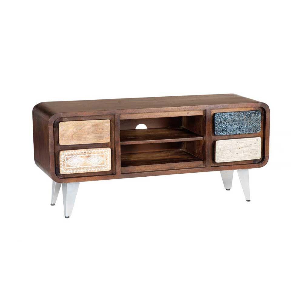 Tv Lowboard Im Retro Design Braun Bunt Jetzt Bestellen Unter  # Meuble Tv Hifi Vintage