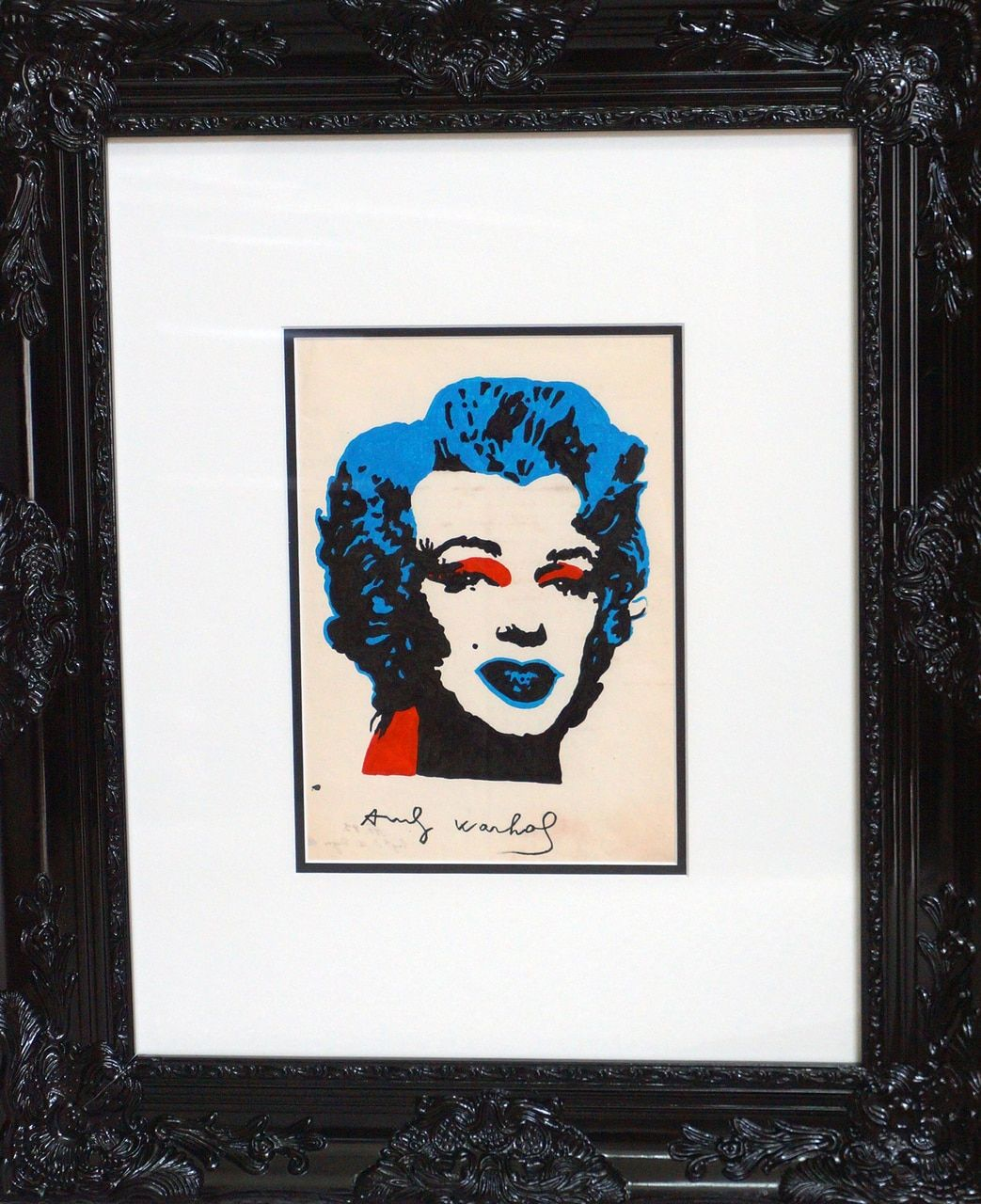 Marilyn Monroe Painting By Andy Warhol Signed Original Framed And