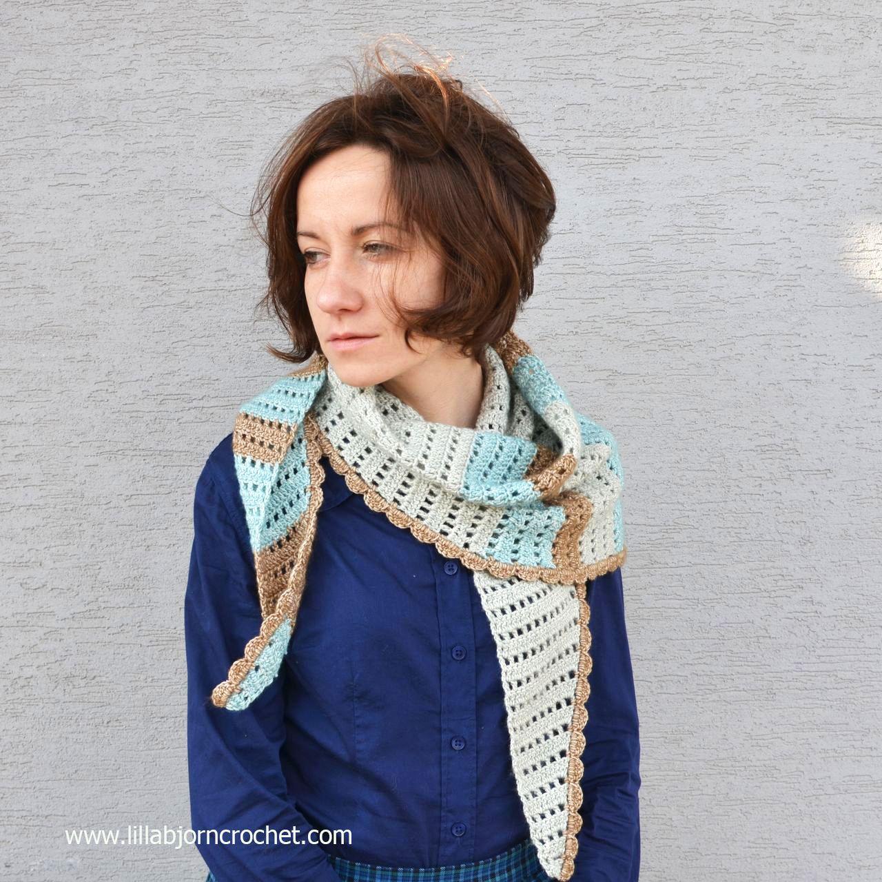 Windy Morning Shawlette: free crochet pattern | Chal, Bufanda cuello ...