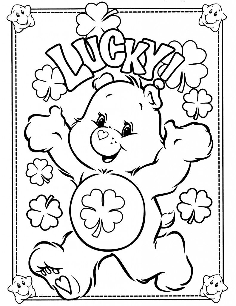 Care Bear Coloring Pages Pyssel Pinterest Care Bears Bears