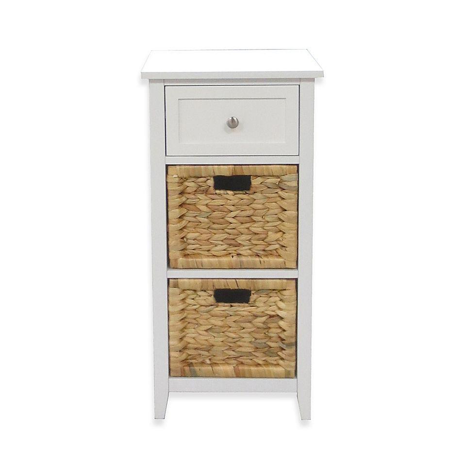 3 Drawers Bathroom Floor Cabinet In White Bed Bath Beyond Bathroom Floor Cabinets Bathroom Flooring Bathroom Furniture Storage