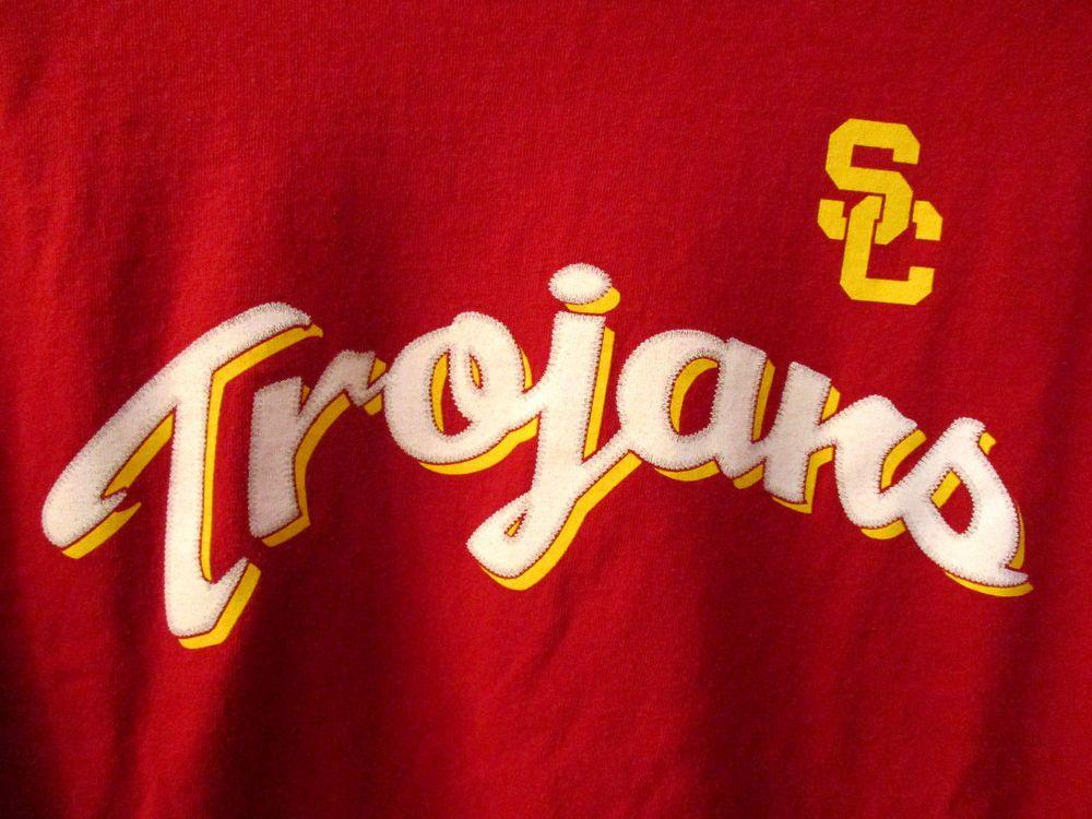 Junior seau usc trojans red tshirt 55 southern