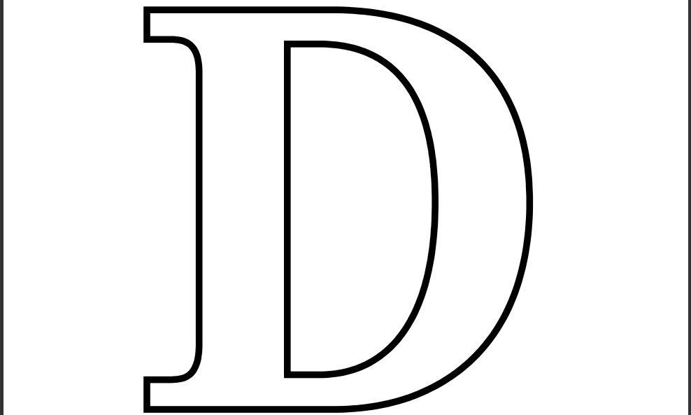 It is a photo of Selective Printable Letter D