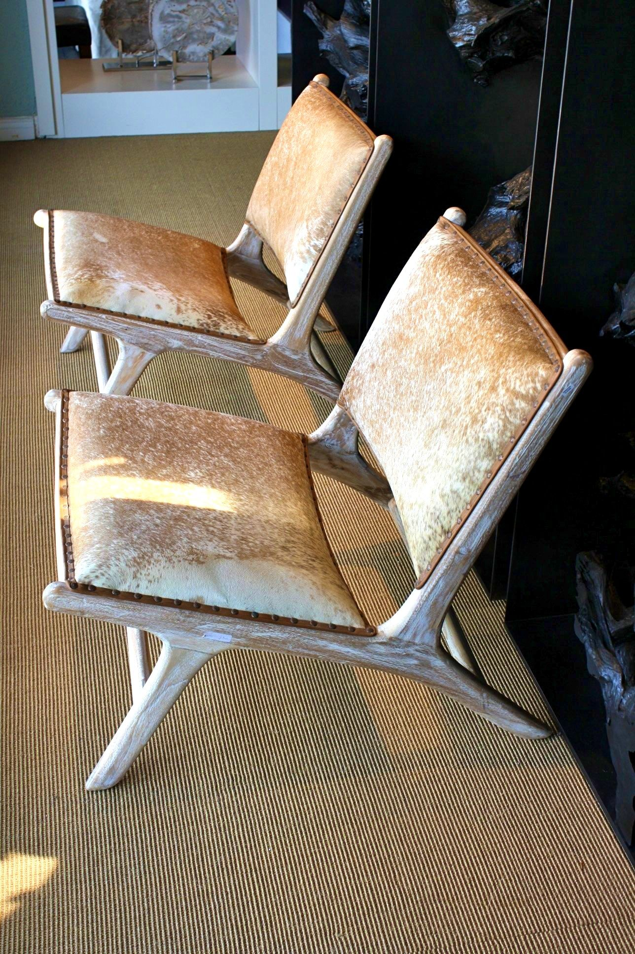Cowhide Chairs Nz Gamer Desk Chair Furnitureheavenly Marlboro Rustic Teak Wood