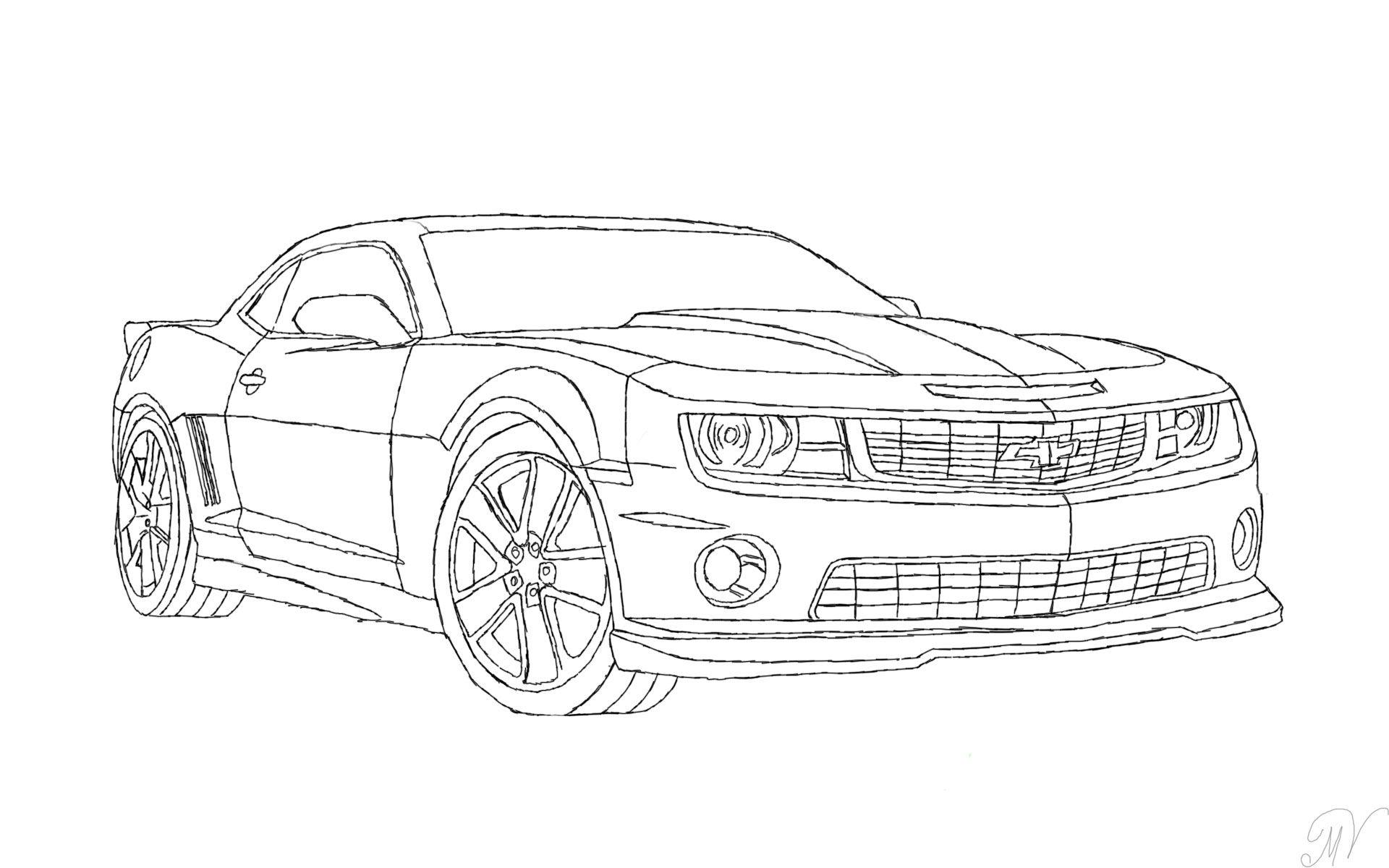 Myndani Ursta A Fyrir Chevrolet Camaro Drawing