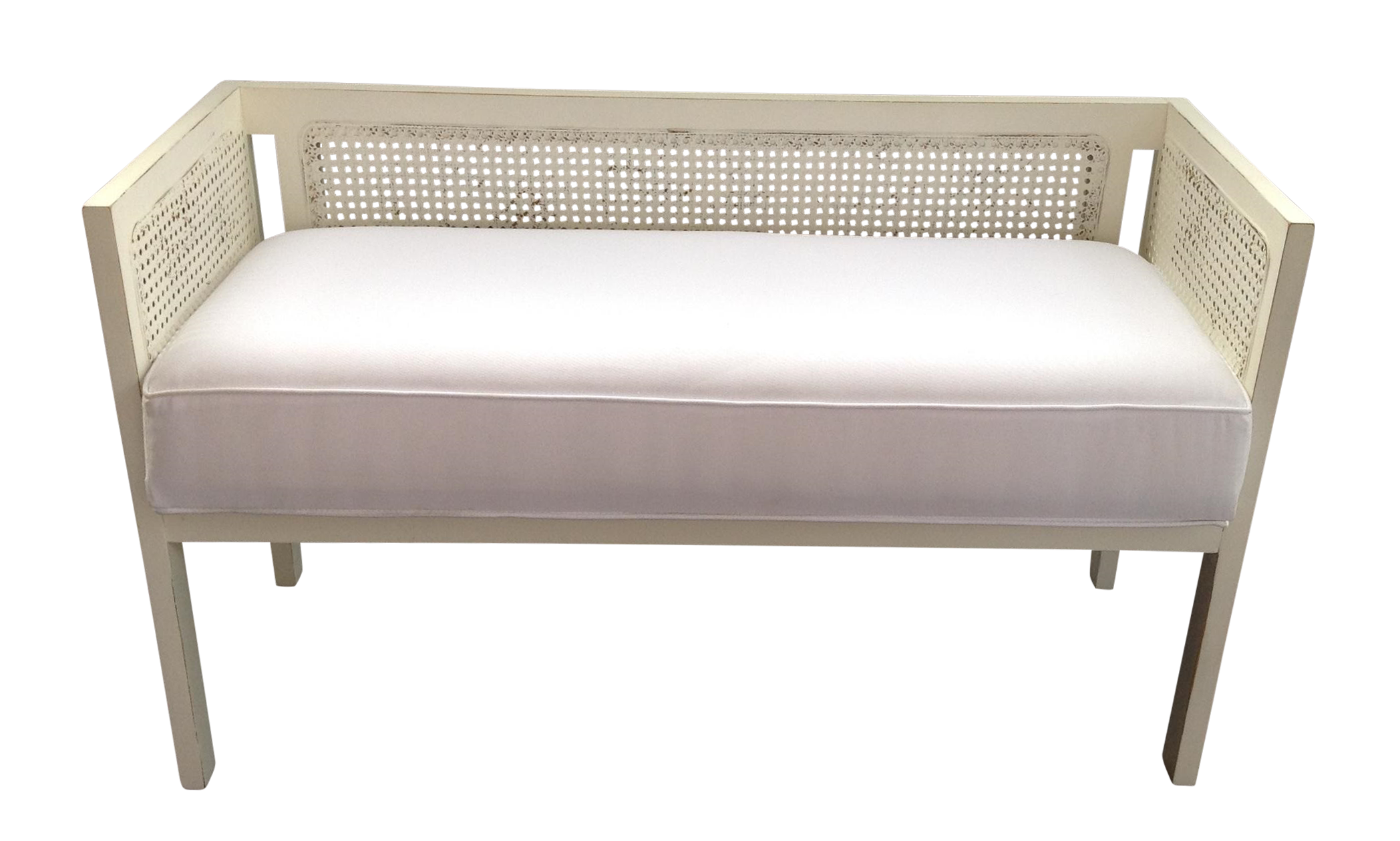 Vintage Cane Back Bench on Chairish Sofas