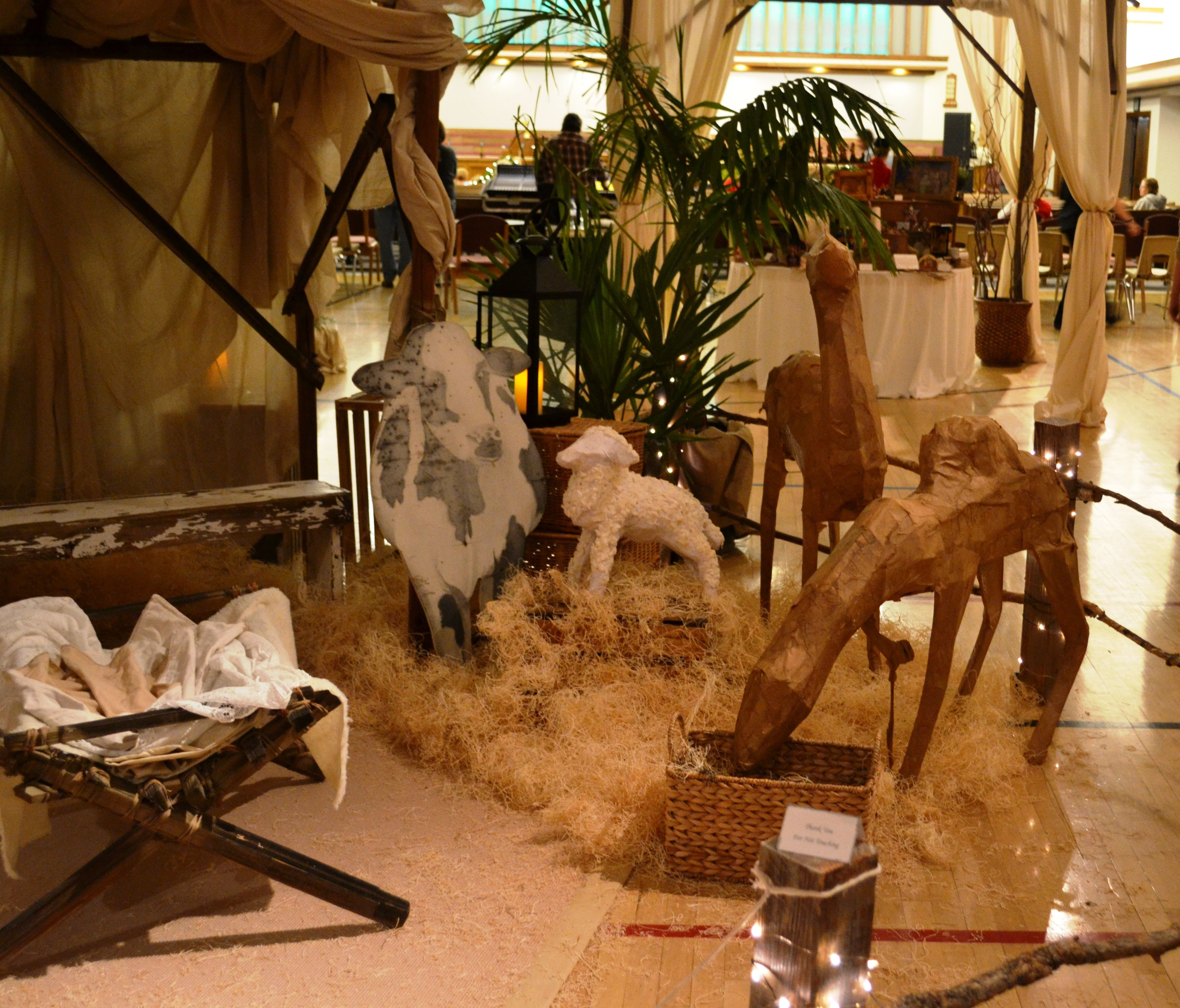 Living Nativity Ideas: Close-up Of Part Of The Live Nativity Positioned In The