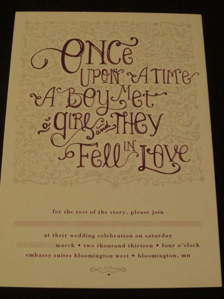 fairy tale themed wedding invitations Our Fairytale 18