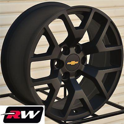 2014 Gmc Sierra Wheels Rims 22 9 Matte Black 22 Inch Fit Chevy