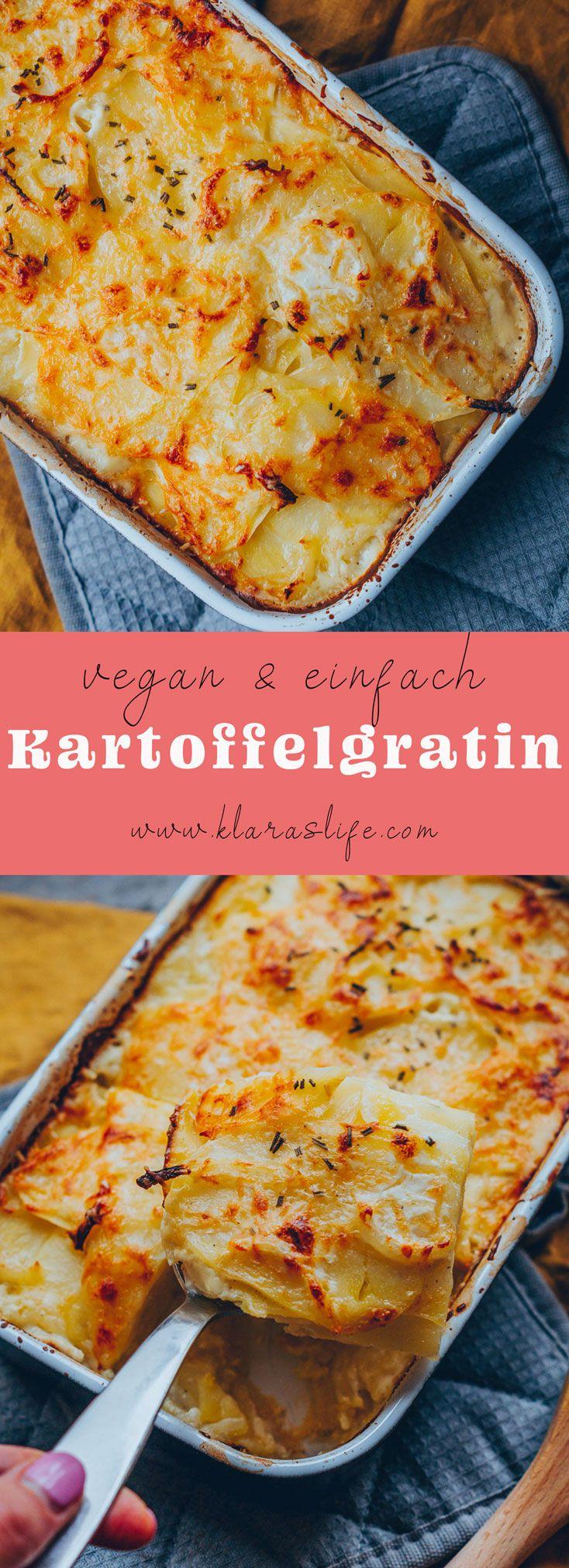 Kartoffelgratin | vegan, einfach und lecker - Klara`s Life