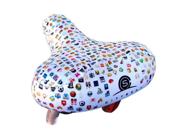 emoji bike seat cover