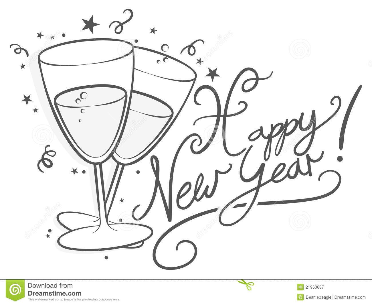 Happy New Year Clipart Black And White 3 New Year Clipart Happy New Year Newyear