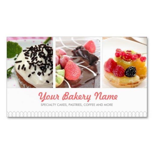 Cute bakery business card with 4 photos make your own business card cute bakery business card with 4 photos make your own business card with this great reheart Choice Image