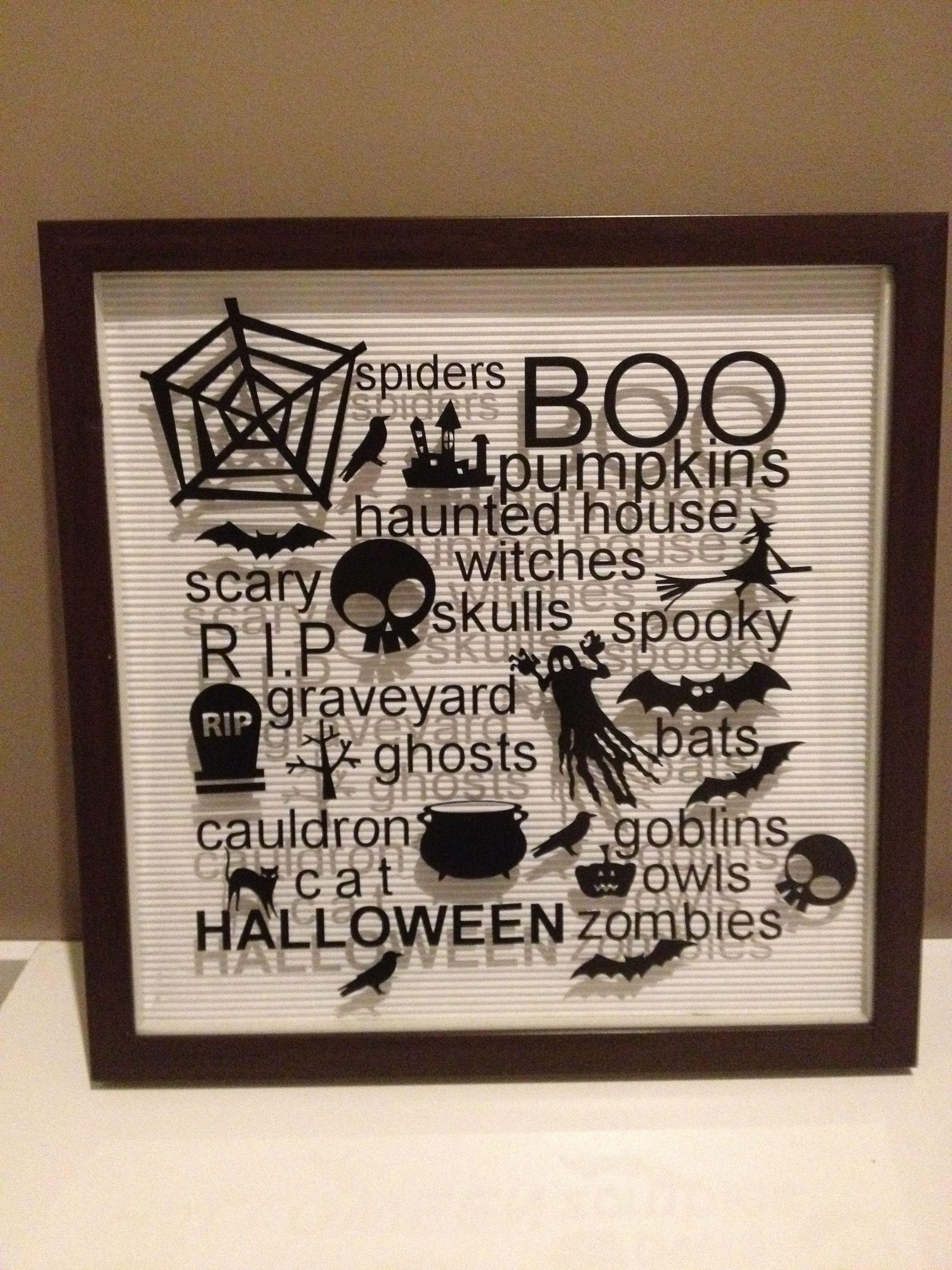 Halloween silhouette vinyl cut out decoration