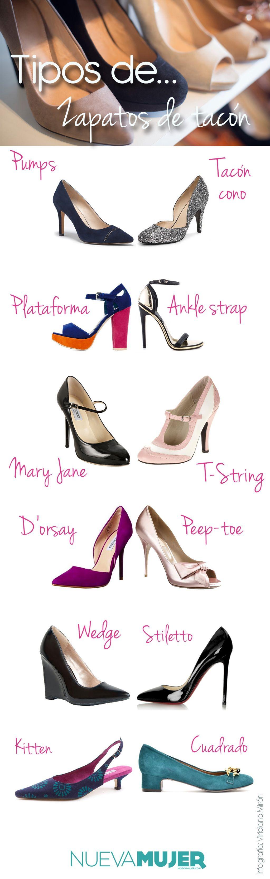 ff657c06 Tipos de #zapatos, #tacones y #tacos ¿cómo se llaman y cuáles son? #Pumps,  #stilettos, #maryjane, #kitten, #peeptoe y más