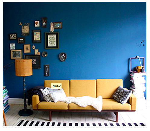 Blue and Yellow sofa Set