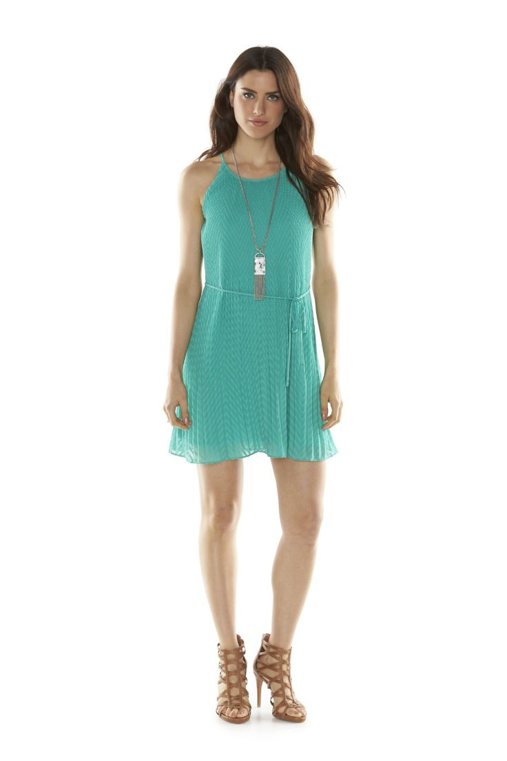 9b0e9cd4db63 Give a simple summer dress a touch of boho style with a long pendant  necklace and strappy tan sandals. Shop ELLE at Kohl s.