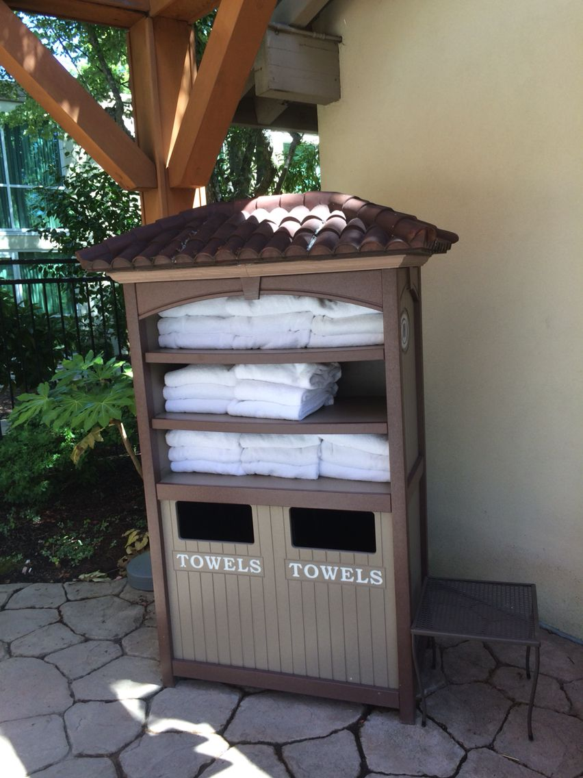Towel Station At Hilton Fitness Centers Pool Designs