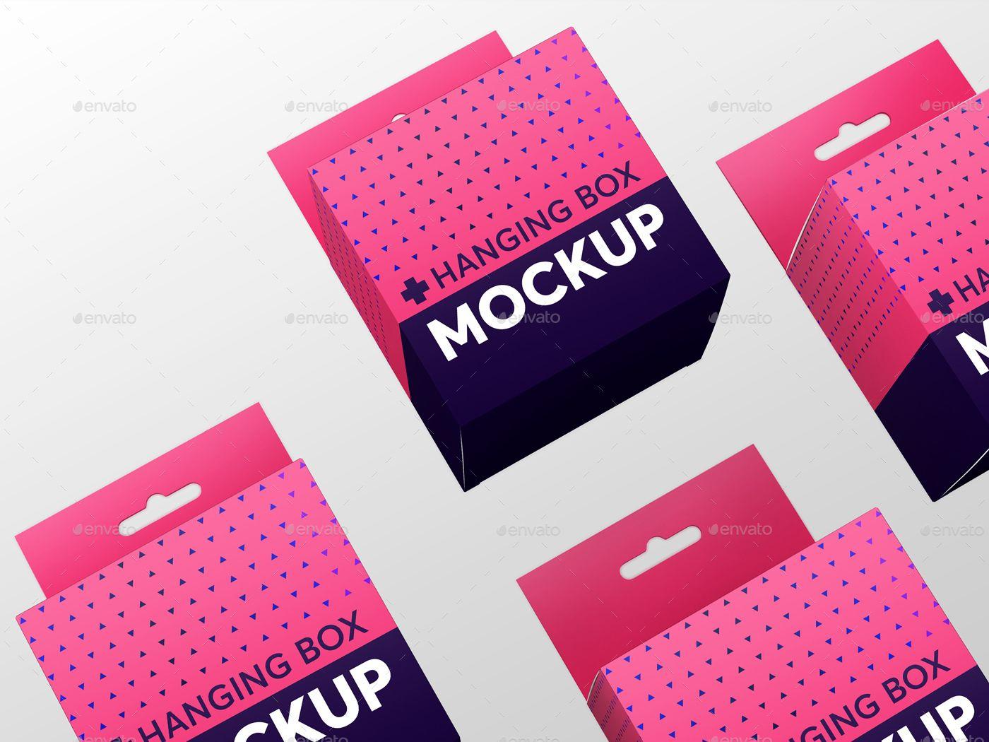 Download Hanging Square Box Mockups V1 Square Hanging Box Mockups Box Mockup Business Card Mock Up Box Packaging Design