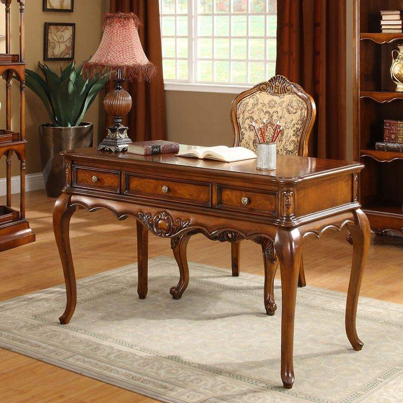 Study Room Furniture Study Table New Classical Design Luxury Reading Roomu2026