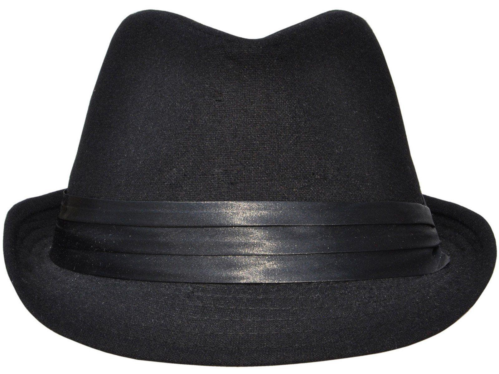 53e07a144ec Simplicity Men Women Manhattan Structured Gangster Trilby Wool Fedora Hat