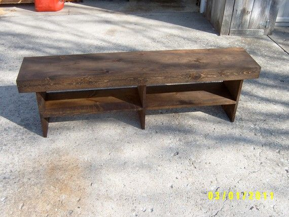 wooden bench 5 farmhouse style by wayneswoodworking on Etsy $90 00