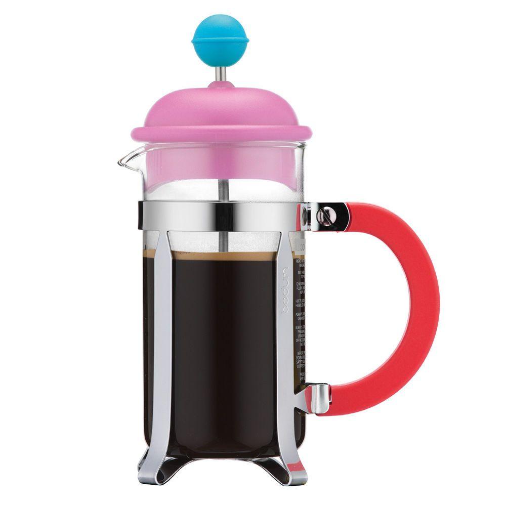 BODUM Kaffeebereiter Caffettiera 0 35 L rot Pink Türkis