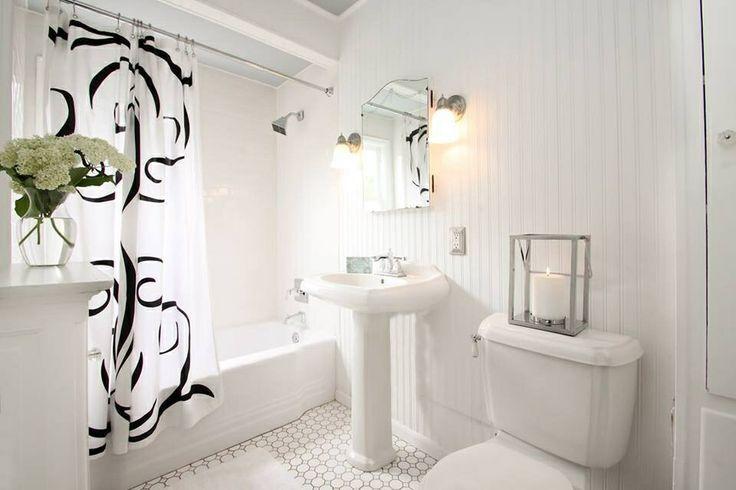 Nicole Curtis Inspiration/Rehab Addict Bathroom All White!