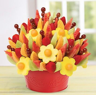 Yummy Fruit Arrangement By Edible Fruits For Desserts Side