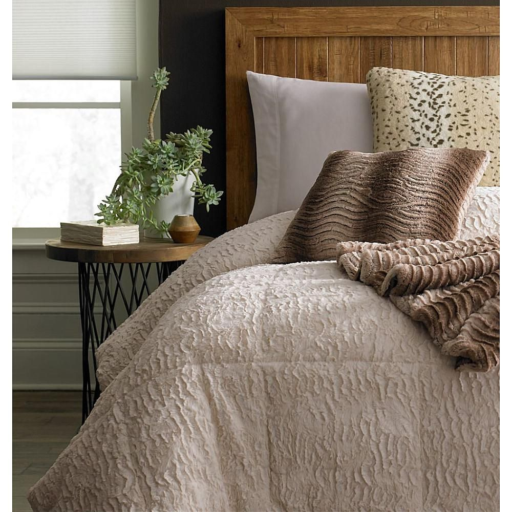 Cannon Fur Comforter Ivory Sears Fur comforter