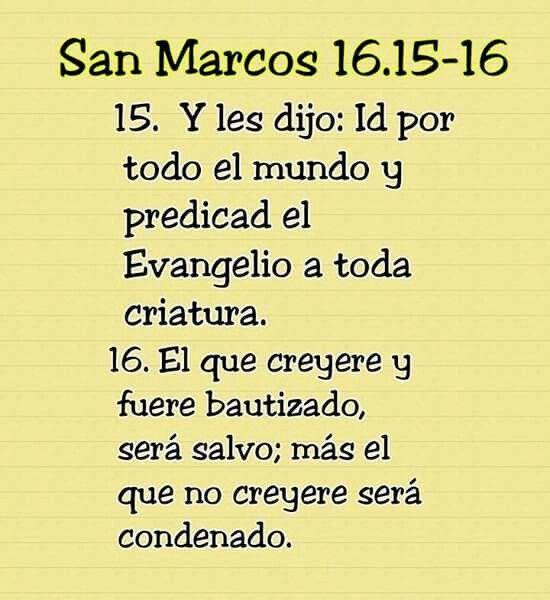 San Marcos 16 15 al 16 | bibliá | Pinterest