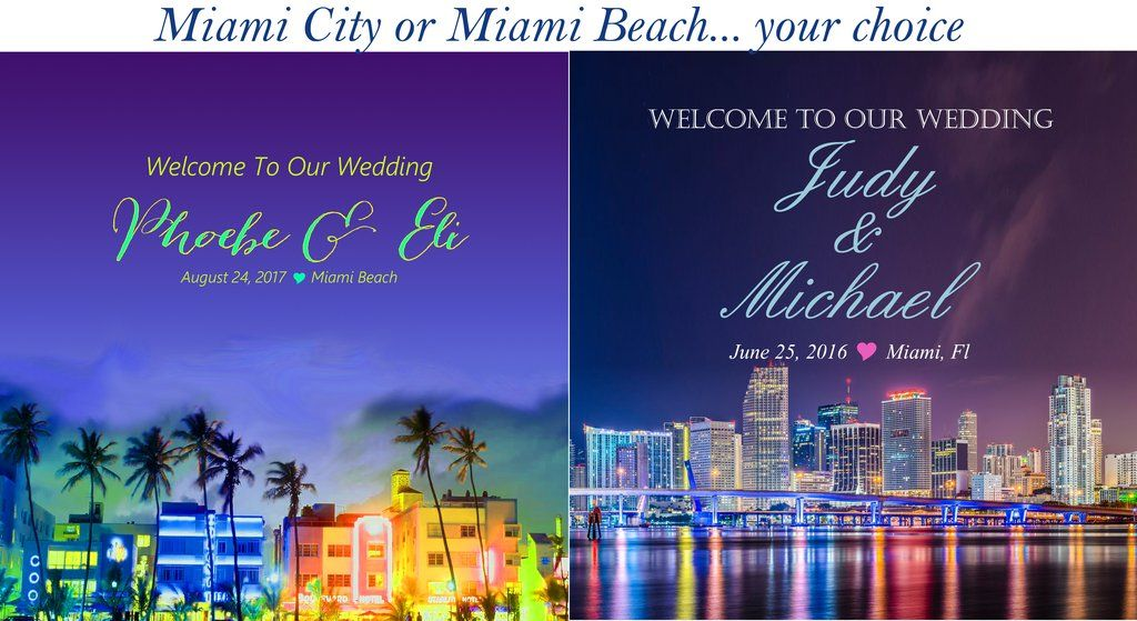Sku514 Miami Welcome Bag Labels Gable Box Stickers City Or