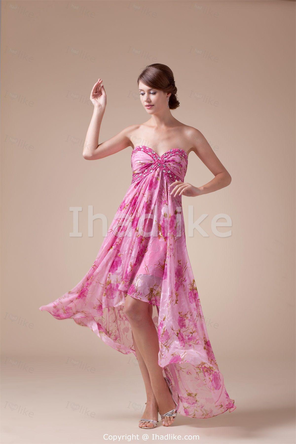 Asymmetrical Silk-like Satin Prom Dresses