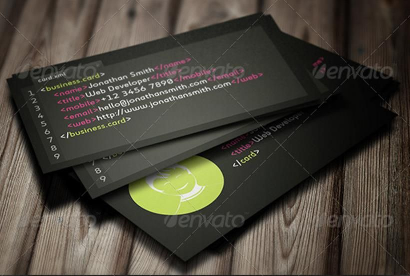 Creative Web Developer Business Card Templates Psd