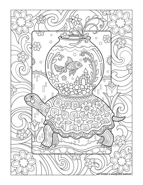 Traveling Goldfish : Pampered Pets Coloring Book I Marjorie Sarnat ...