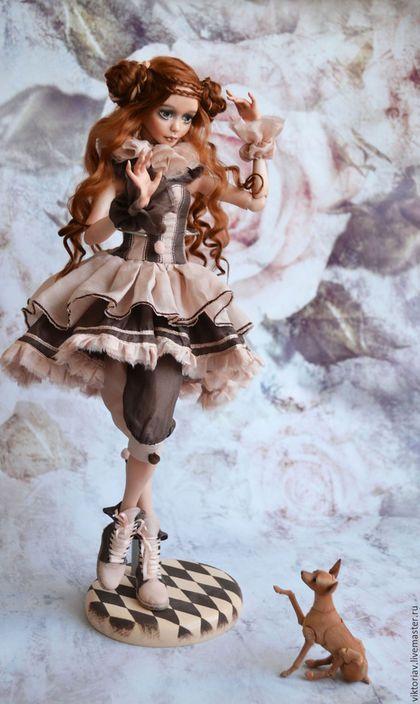 Коллекционные куклы ручной работы. Лея, фарфоровая шарнирная кукла. Виктория Воронова. Ярмарка Мастеров. Кукла ручной работы, клоун