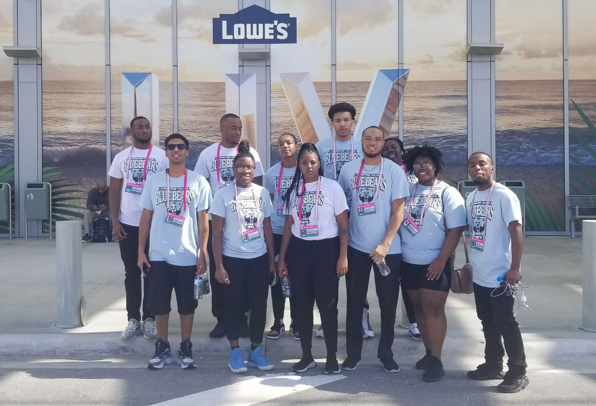 Livingstone College students take in the Super Bowl WBTV