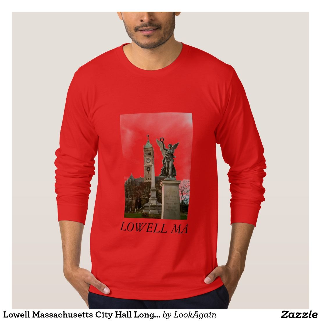 Lowell Massachusetts City Hall Long Sleeve T-Shirt