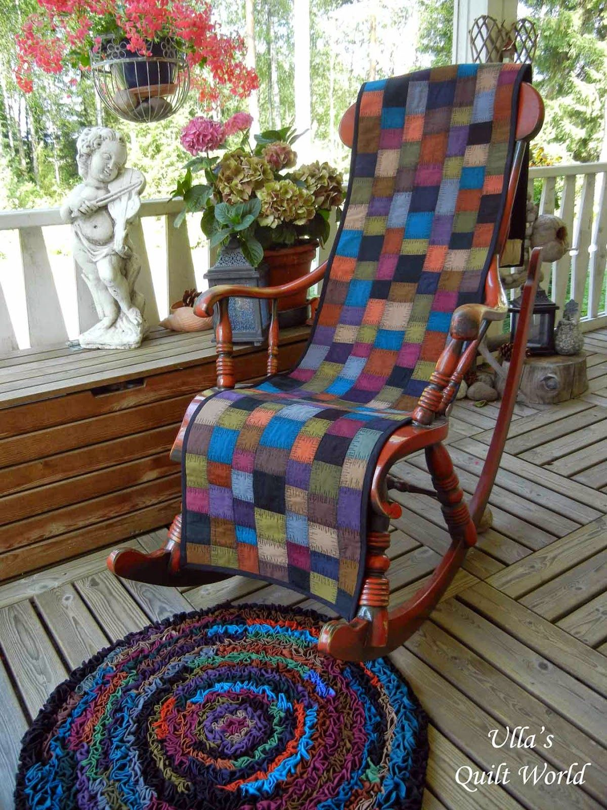 Chair Cover Quilting Slipper Rocking And A Rug Tutorial Ulla S Quilt World