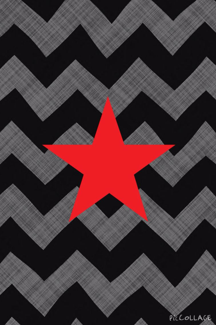 Red Star Grey Chevron Iphone Wallpapers