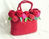 Love Felted Flowers Knitting Pattern tutorial pdf, Knit Flower Pattern, Felt Flower Knitting Pattern. $17.95, via Etsy.