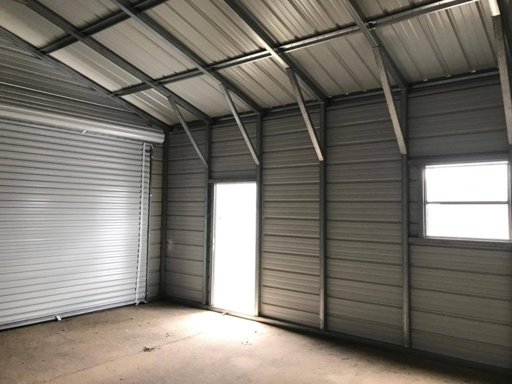 2 Car Metal Garage in Midland, Michigan - Midwest Steel ...