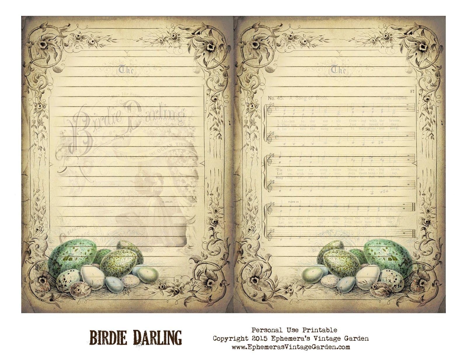 Ephemera\'s Vintage Garden: Free Printable - Vintage Journal Pages ...