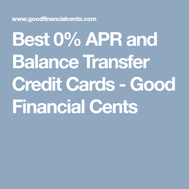 0 apr balance transfer credit cards