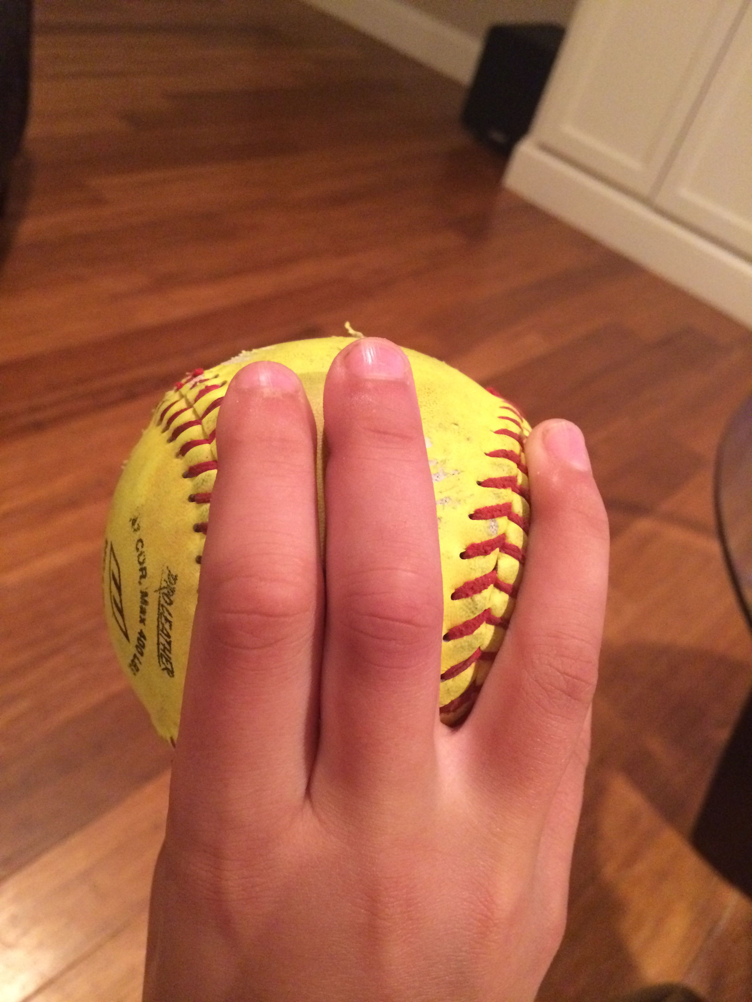 Drop ball grip throw almost like your curveball but