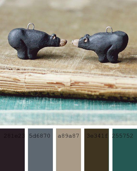 Paletas de colores neutros y verdes azulados gray cyan - Paleta de colores neutros ...
